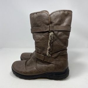 Lower East Side Brown Boots Size 8.5 (A127)